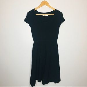 Eliza j Black Ribbed Dress womens size Small Short